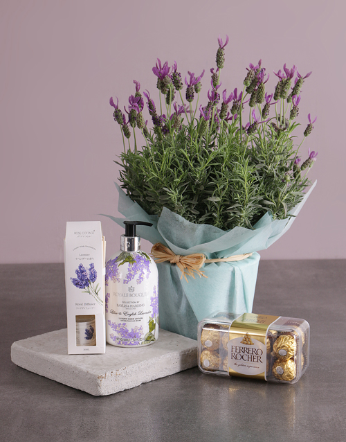 secretarys-day: Fragrant Lavender Gift Basket!