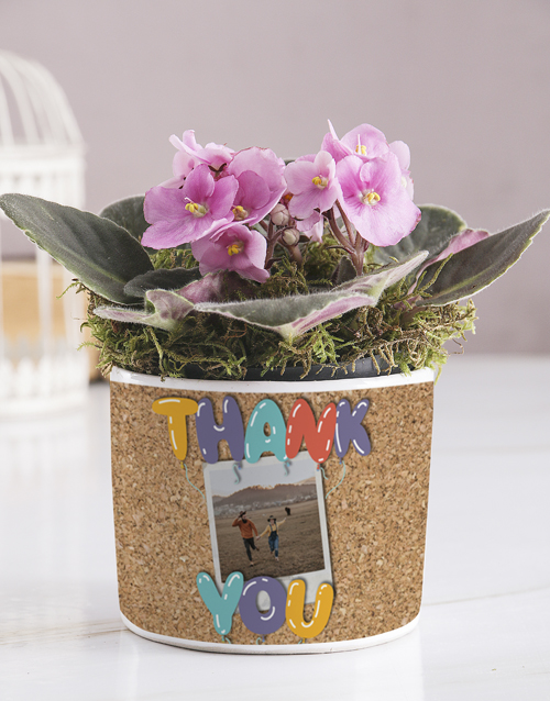 personalised: Personalised Thank You African Violet!