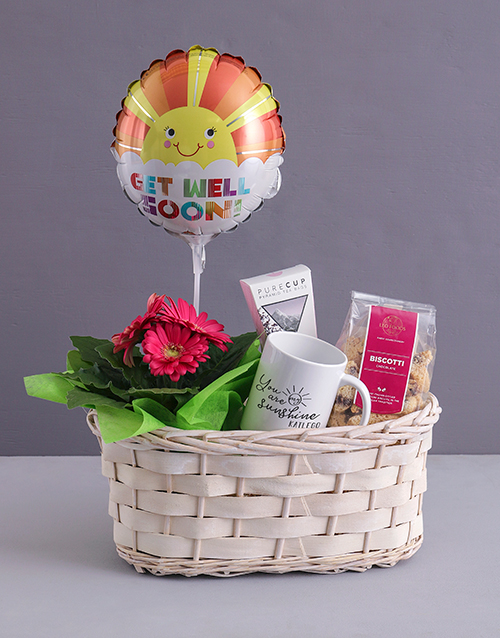 personalised: My Sunshine Gerbera Plant Gift In Wooden Box !