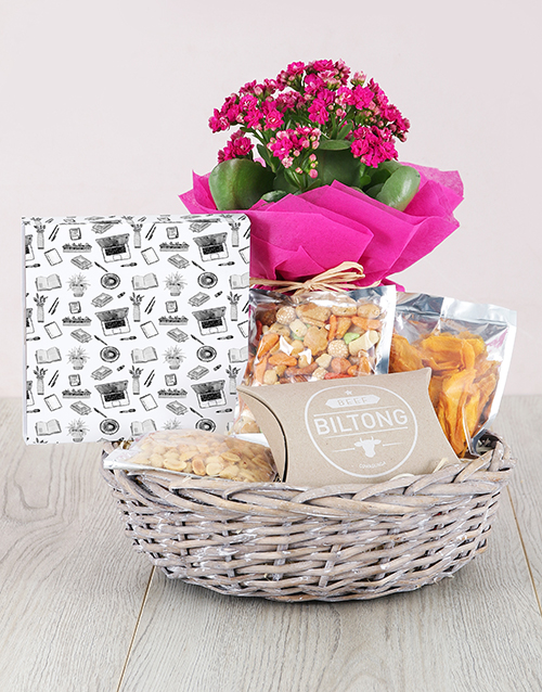 colour: Kalanchoe And Gourmet Gift Hamper !