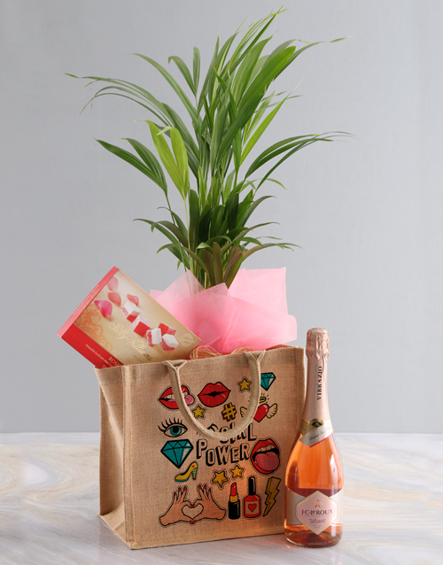 house-warming: Areca Bamboo Planter And Goodie Tote Bag!