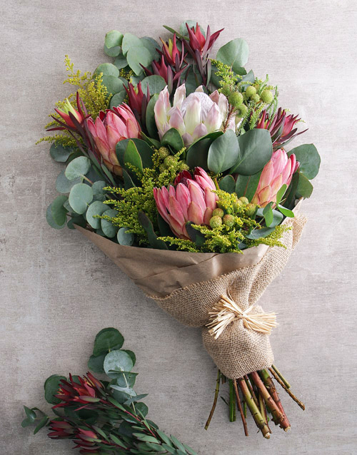 proteas: Blushing Pink Protea Bouquet!