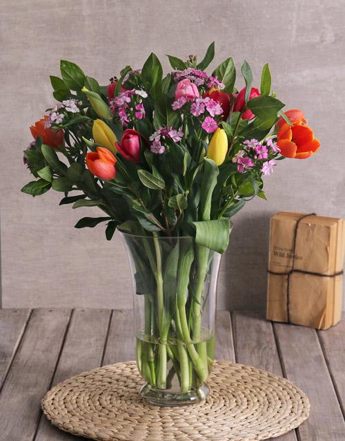 colour: Tremendous Tulips Arrangement!