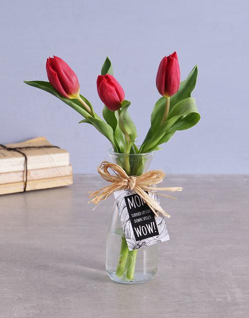 seasonal: Red Tulips in Vase!