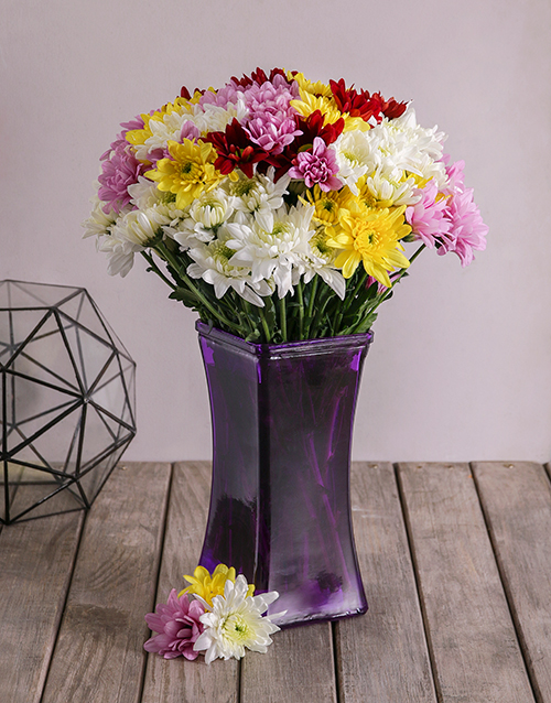 flowers: Mixed Sprays in Lady Purple Vase!