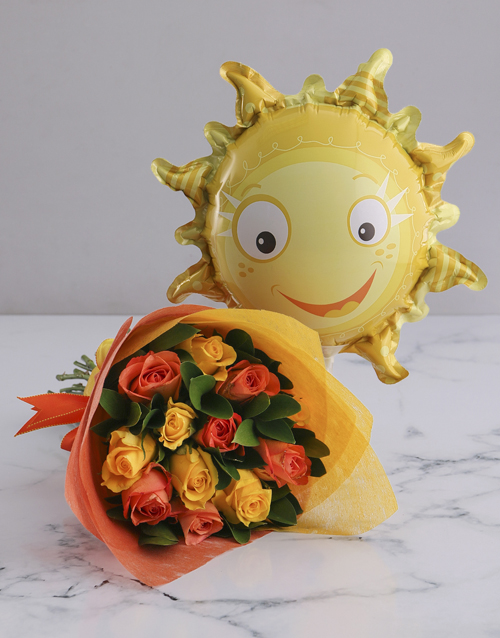 prices: Sunny Rose Bouquet and Balloon!