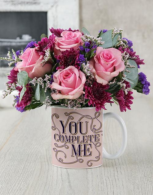 friendship: You Complete Me Floral Mug!