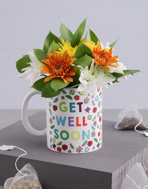 get-well: Get Well Floral Spray Mug!