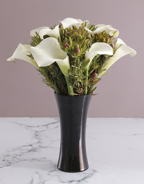 flowers: White Lilies in Flair Vase!