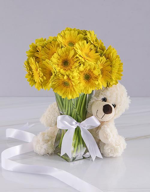 baby: Yellow Gerbera Array!