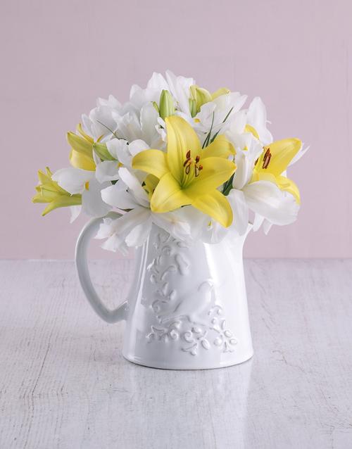 colour: Pure White Irises!
