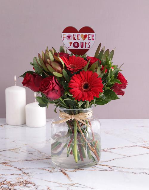 anniversary: Forever Yours Flower Arrangement!