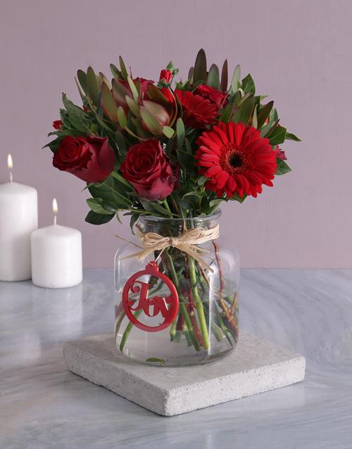 flowers: Christmas Joy Flower Vase!