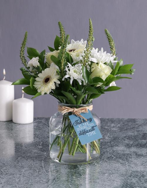 vase: Thinking Of You Flower Arrangement!