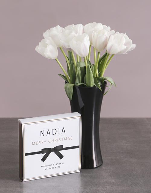 flowers: Classic White Tulip Delights!