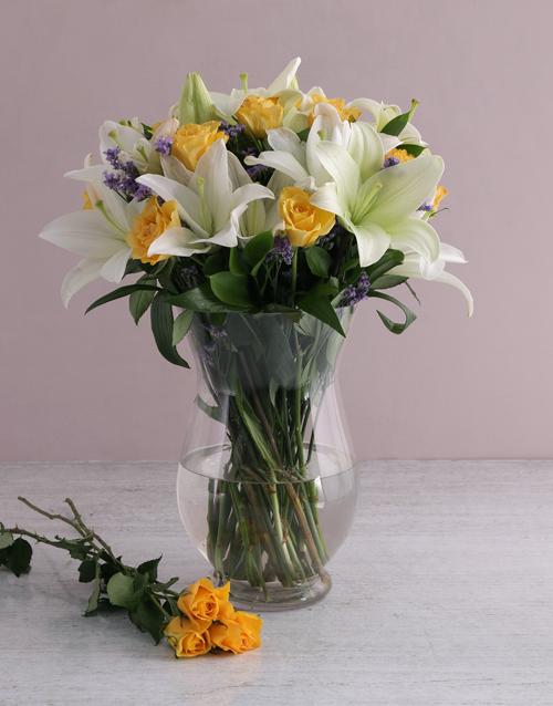 sympathy: Floral Elegance In A Hurricane Vase!