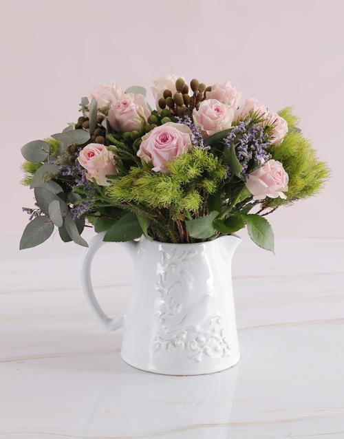 colour: Jug of Pastel Blooms!