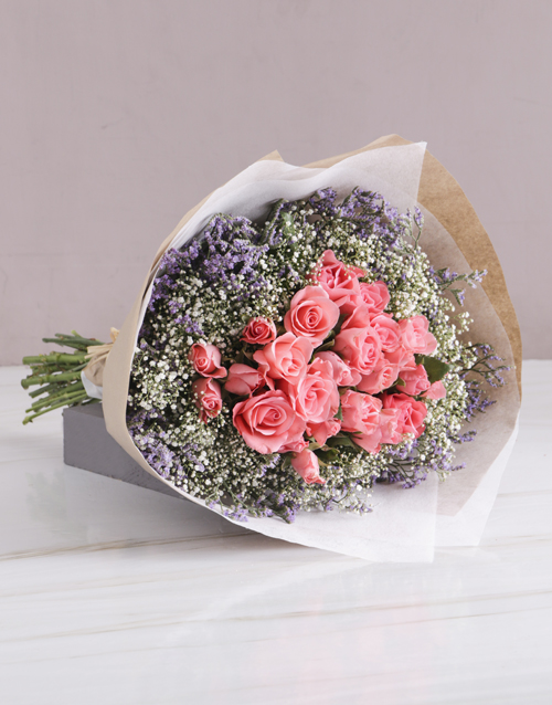 flowers: Elegant Sapphire Pink Roses!