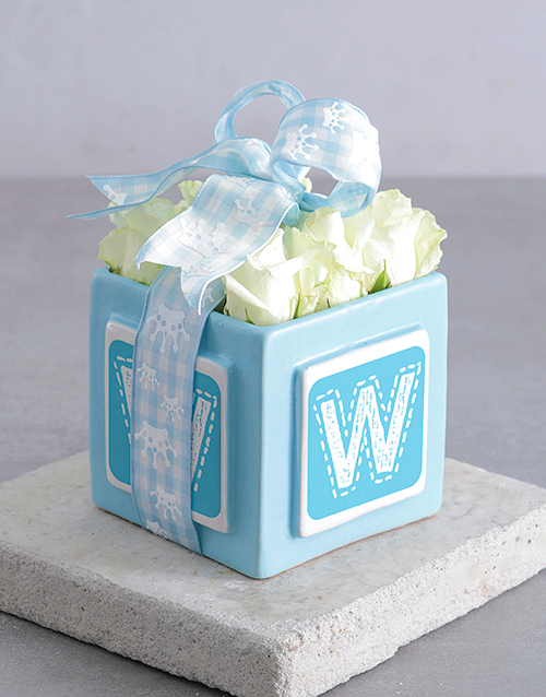 personalised: Personalised Blue Letter Arrangement!