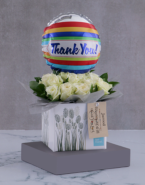 in-a-box: Personalised Thank You Arrangement In A Box!