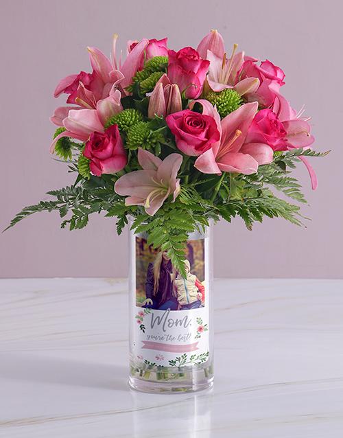birthday: Personalised Best Mom Roses Photo Vase!