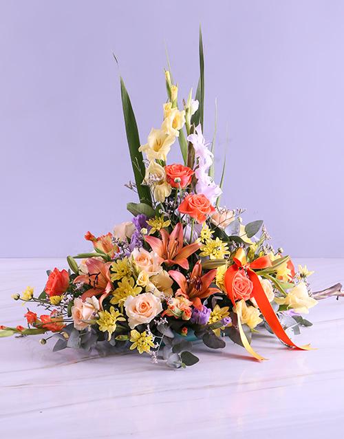 congratulations: Colourful Gladioli Ikebana Design Arrangement!