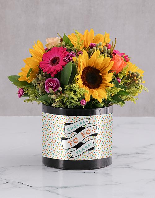 personalised: Personalised Confetti Cheers Birthday Box!