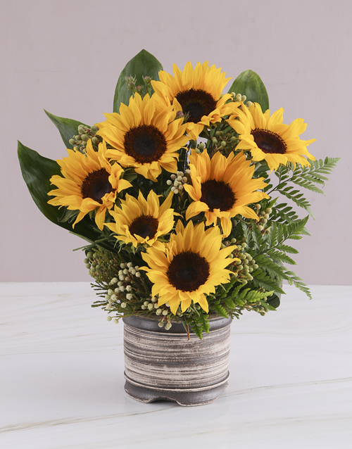 sunflowers: Waterfall Sunflower Arrangement!