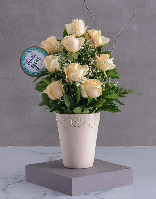 roses: Cream Roses Of Gratitude!