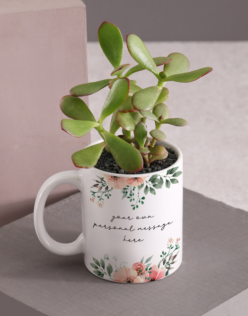 colour: Personalised Floral Flower Mug!
