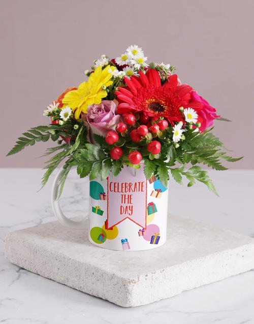 flowers: Celebration Flower Mug!