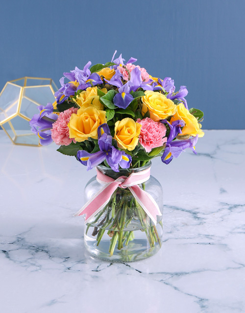 colour: Vase of Bright and Blissful Blooms!