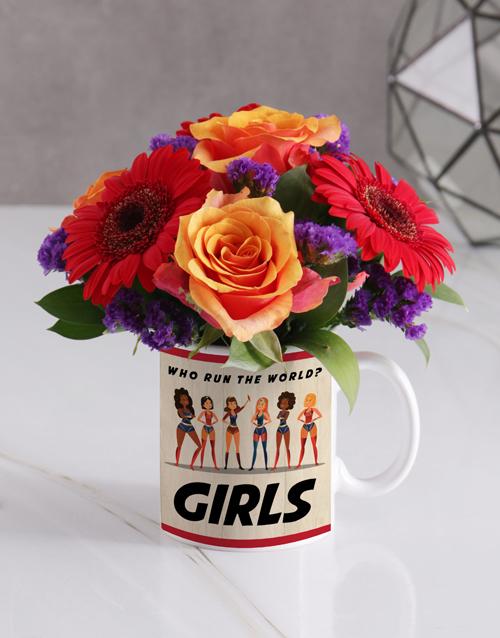 mugs: Girls Rose Floral Mug!