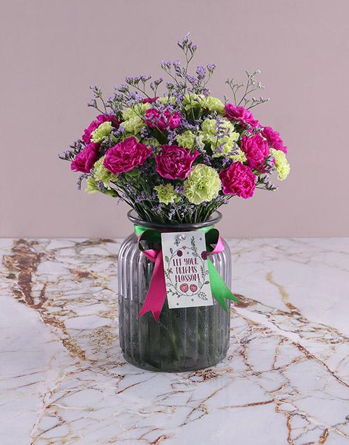 carnation: Blooming Carnation Arrangement!