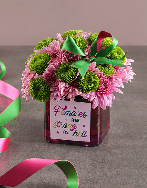 colour: Pretty And Pink Sprays In Vase!