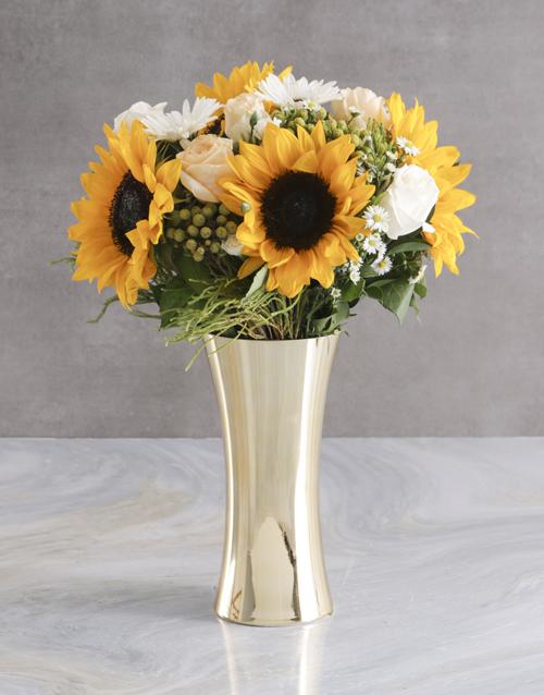 sympathy: White Sunflower Arrangement!