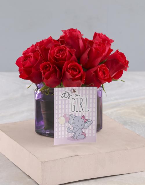 baby: Cerise Rose Gift For Sweet Baby Girl!
