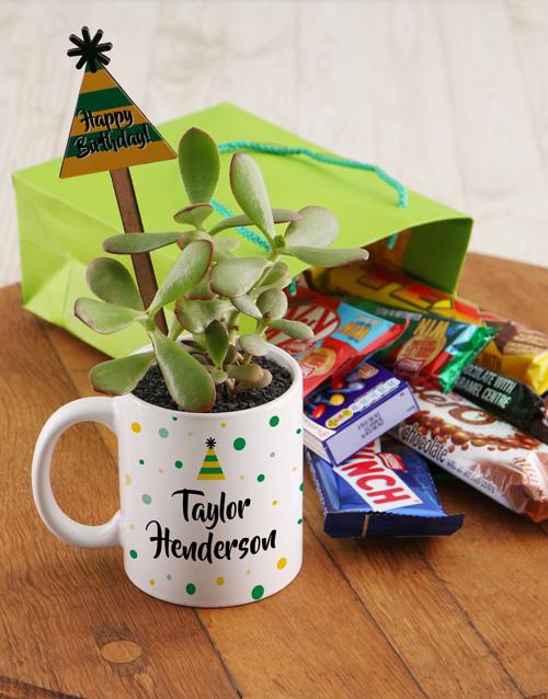 mugs: Personalised Birthday Floral Mug!