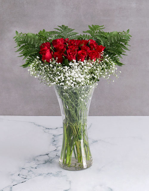 roses: Starry Red Rose Arrangement!