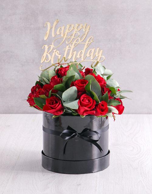 roses: Red Rose Birthday Arrangement!