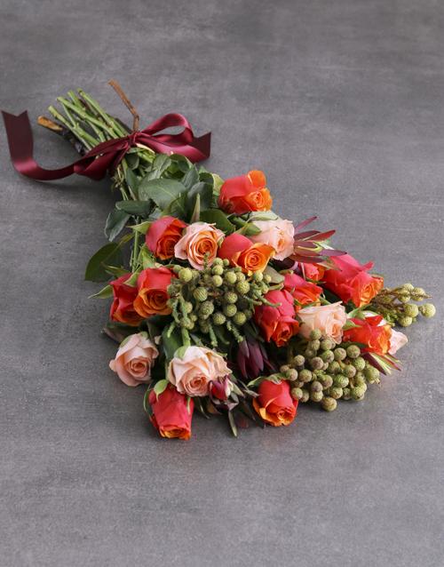 birthday: Cherry Brandy Rose Bouquet!