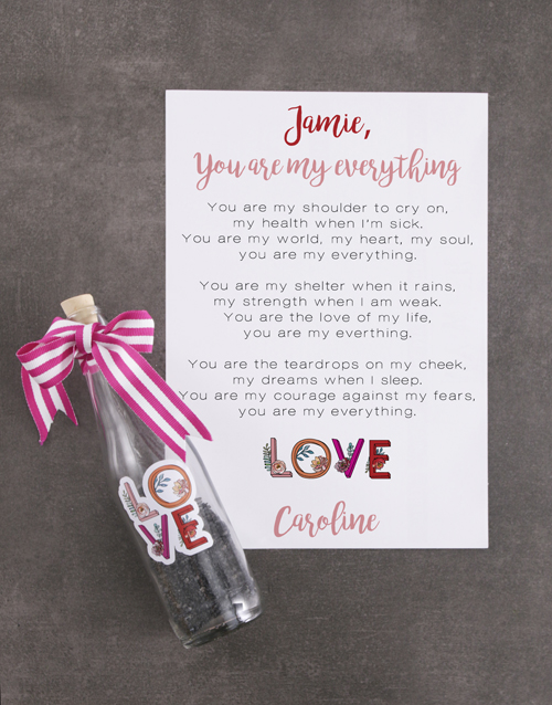 anniversary: Cute Love Message In A Bottle!