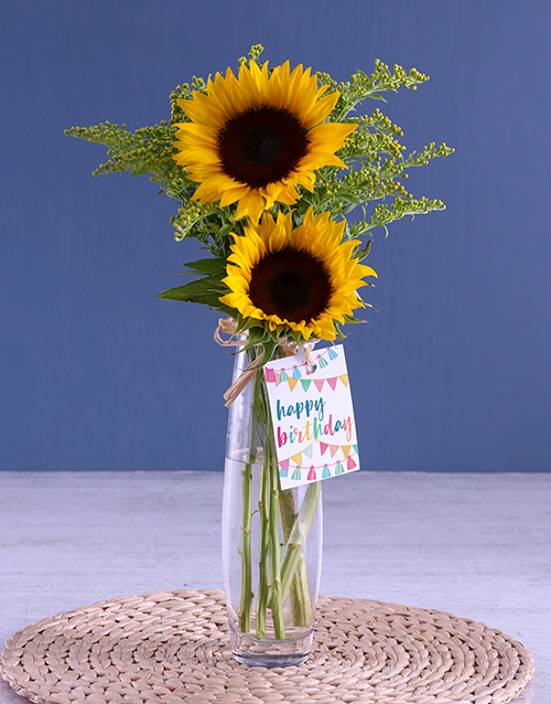 teachers-day: Happy Birthday To You Sunflower Gift!