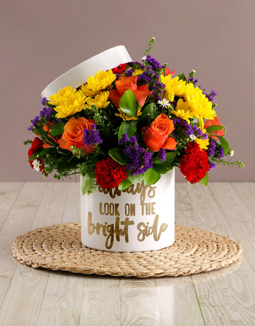 in-a-box: Bright Side Mixed Flowers Hat Box!