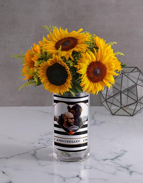 personalised: Anniversary Sunflower Photo Vase!