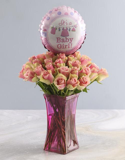 teddy-bears: Its a Baby Girl Rose Vase!