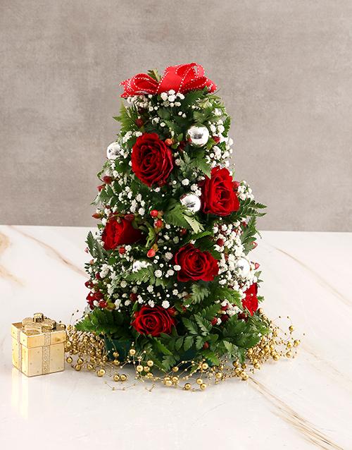 christmas: Red Rose Festive Blossoms!