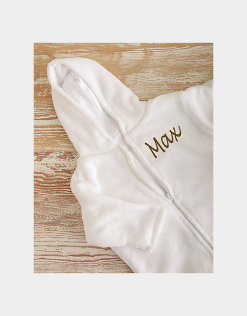 baby: Personalised Fleece Baby Sleeping Jacket!