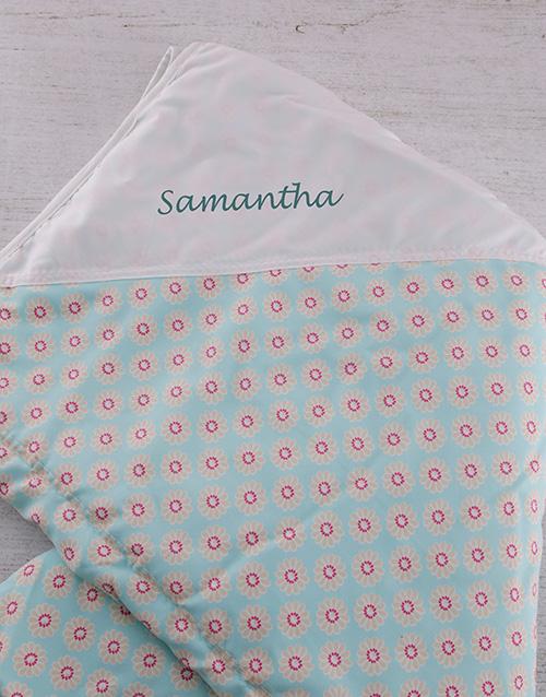 gifts: Flower Personalised Blanket!