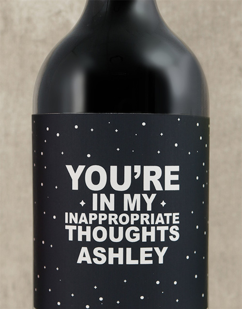 fine-alcohol: Personalised Inappropriate Thoughts Wine!